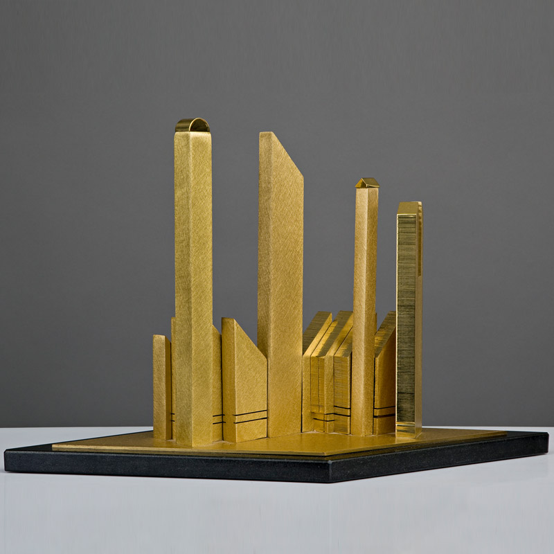 Golden City Sculpture For Sale By Artist Janet Indick